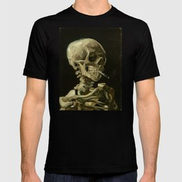 Vincent van Gogh - Skull of a Skeleton with Burning Cigarette T-shirt