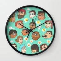 emoji Wall Clocks featuring emoji talk by Hugo Lucas
