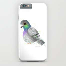City Pigeon Bird Illustration  iPhone Case