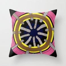 radial blame III Throw Pillow