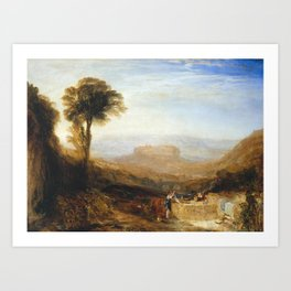 Joseph Mallord William Turner 1775–1851   View of Orvieto, Painted in Rome Art Print