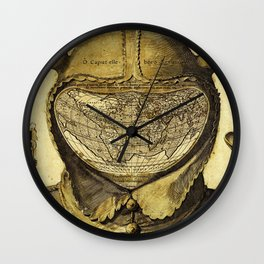 Fool's Cap Map of the World Wall Clock