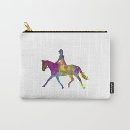 Horse show 05 in watercolor Carry-All Pouch