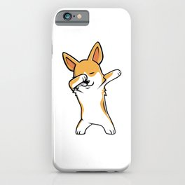 Funny Pembroke Welsh Corgi Dabbing iPhone Case