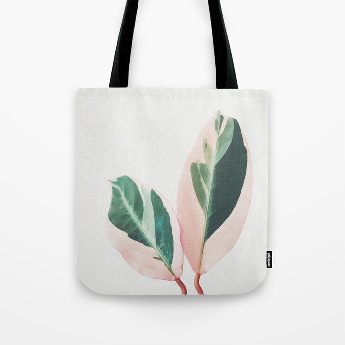 Pink Leaves I Tote Bag