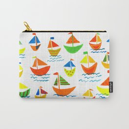 Crazy Sailboats Carry-All Pouch