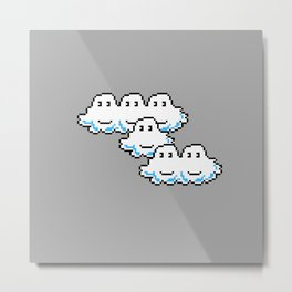 Super Mario Clouds Metal Print