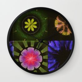 Brinish Symmetry Flowers  ID:16165-053020-45980 Wall Clock