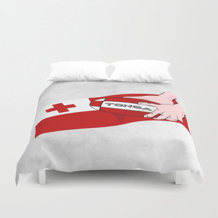 Tonga Rugby Flag Duvet Cover