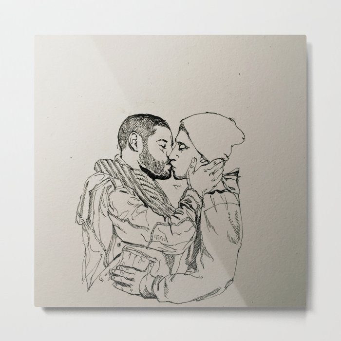 Gay Kiss Metal Print