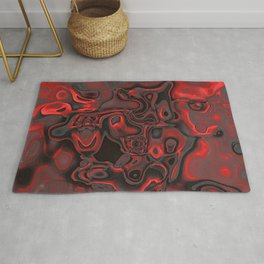 Red Dominant Gemstone Pattern Rug