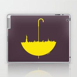 Yellow umbrella Laptop & iPad Skin