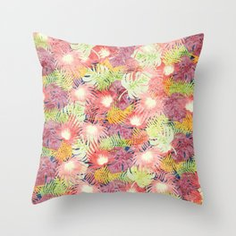 Tropical Leaves #03 Throw Pillow