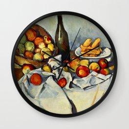 """Paul Cezanne """"Basket of Apples"""" Wall Clock"""