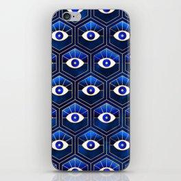 Eyes / Blue iPhone Skin