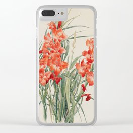 Charles Demuth - Red Gladioli Clear iPhone Case