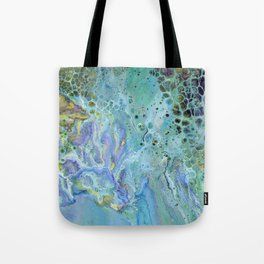 Paradise - Acrylic, original, fluid, abstract, seascape painting Tote Bag