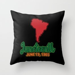 Juneteenth Celebration Black Flag June 19 1865 Throw Pillow