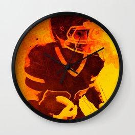 Heat of American Football Wall Clock