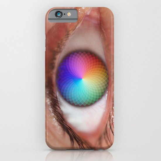I see all the Colors - Geometric Pantone Eye Vision iPhone & iPod Case