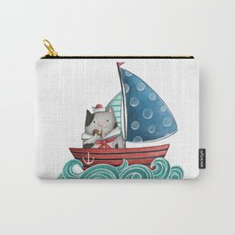Sailor Cat Illustration Carry-All Pouch