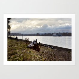 Heading North on the Columbia River Art Print