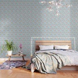 Cute hedgehogs pattern Wallpaper