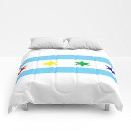 Chicago Pride Flag Comforters