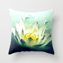 Ocean's Lotus Throw Pillow