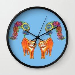 Classy Cat Chloe (Blue) Wall Clock