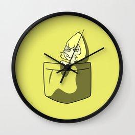Yellow Pearl Pocket Tee Wall Clock