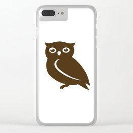 Little Brown Owl Clear iPhone Case