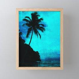 Tropical scene Framed Mini Art Print
