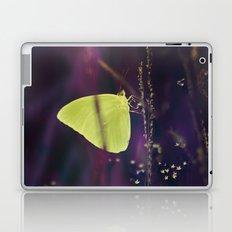 Yellow Butterfly in the Mystic Purple Meadow Laptop & iPad Skin
