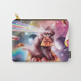 Outer Space Pizza Cat - Rainbow Laser, Taco, Burrito Carry-All Pouch