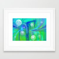 bubbles Framed Art Prints featuring Bubbles by Roger Wedegis