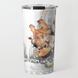 Selfie Giraffe in New York Travel Mug