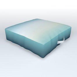 ocean sky color gradient  - blue , white , black Outdoor Floor Cushion