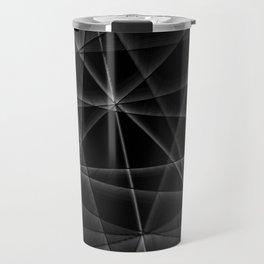 black and white random lines Travel Mug