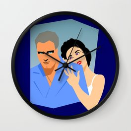 Cat on a Hot Tin Roof Wall Clock