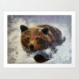 Bear on a Mission Art Print