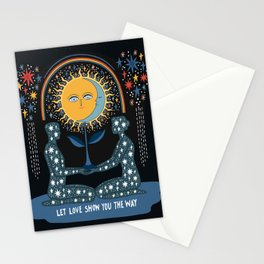 Let love show you the way Stationery Cards