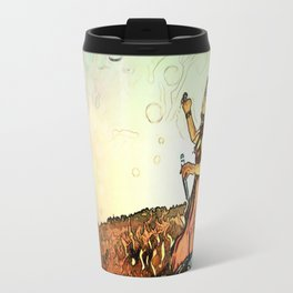Blowing Bubbles on the Mountain Travel Mug