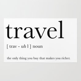 Travel Definition Rug