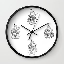 the four musketeers Wall Clock
