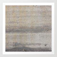 concrete Art Prints featuring Concrete by Patterns and Textures