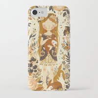 bunny iPhone & iPod Cases featuring The Queen of Pentacles by Teagan White