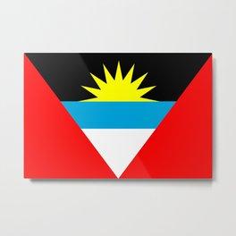 Antigua and Barbuda country flag Metal Print
