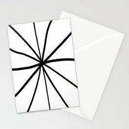 Funnies stripes 12 Black and white Stationery Cards