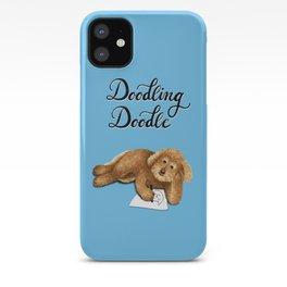 Doodling Doodle (Blue) iPhone Case